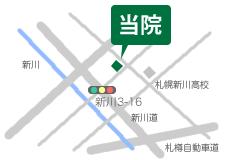 札幌市北区の歯科・かつた歯科クリニック 地図